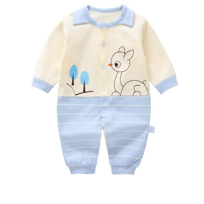 2019 New Baby Rompers Children Clothes Cotton Girls One Pieces Newborn 0-12 Months