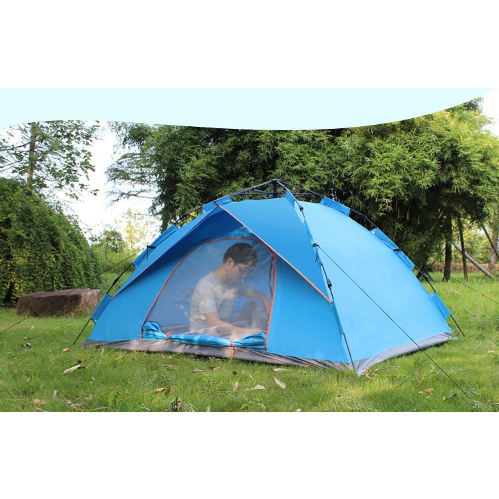 1-2 person Windproof Waterproof Anti UV Single  Layer Tent Ultralight Outdoor Hiking Camping Tent Picnic tent with Carrying Bag nh cloud outdoor single person camping tent anti rain 4seasons ultraportability 20d nylon silicone cated waterproof 8000mm
