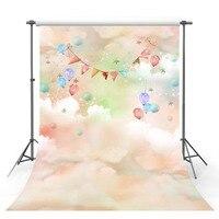 3 D Vinyl Cloth Colorful Cloud Wonderland Photography Backdrops For Baby Model Portrait Photo Studio Background