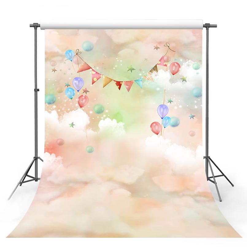 3 D vinyl cloth colorful cloud wonderland photography backdrops for baby model portrait photo studio background