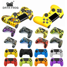 Data Frog Soft Silicone Gel Rubber Skin Cover For SONY Playstation 4 PS4 Controller Protection Case+2 Pcs Thumb+LED Light Bar стоимость