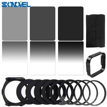 Gradient Neutral Density Complete & Gradual ND 2 4 8 Square Filter Kit + 9 Adapter rings for Cokin P Series DSLR Camera Lens