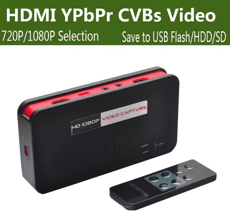 Live Stream Broadcast HD Video Game Capture HDMI YPbpr CVBS Record Box to U font b
