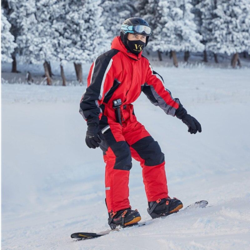 Combinaison de ski d'hiver 2018 pour hommes combinaison de ski de neige combinaison de ski isolée salopette chaude imperméable snowboard tissu de ski pour hommes