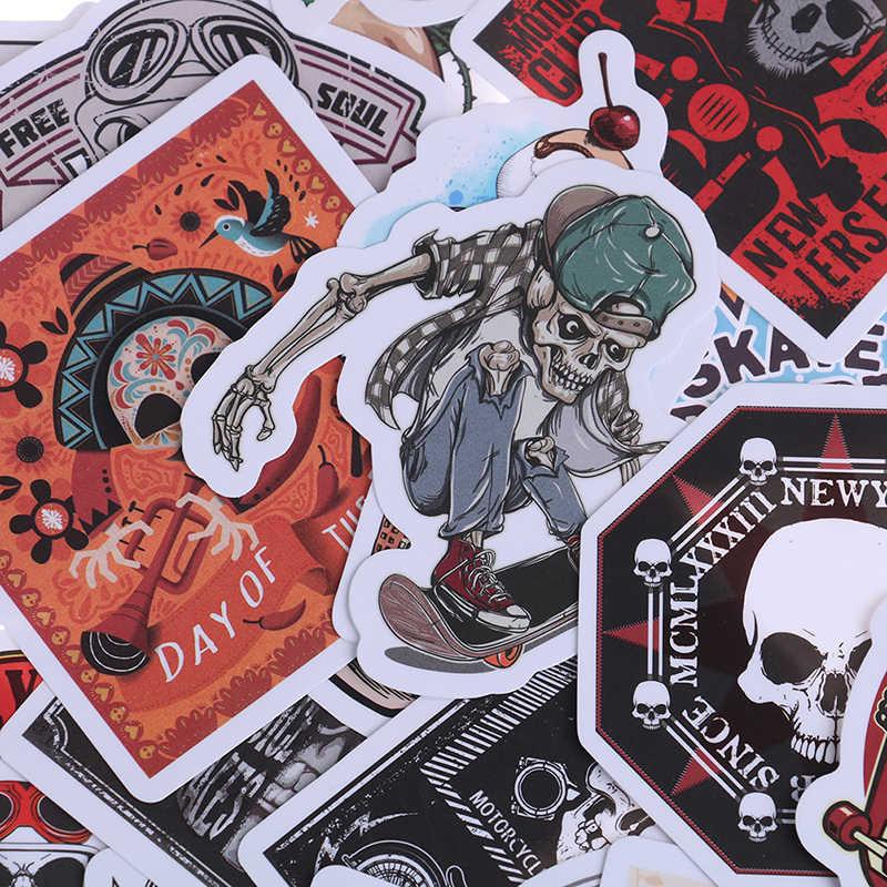 50 PCS Scrapbooking Laptop Skateboard Koffer Gitarre Auto Punk Skeleton Aufkleber Graffiti Schädel Rock Motorrad Aufkleber zu DIY