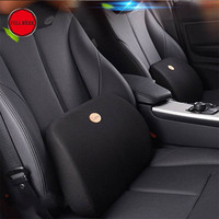1 pc Car Seat Cover Lumbar Support Pillow Rest Back Waist Support Cushion Pad Memory Foam Cotton Office Home Chair Universal