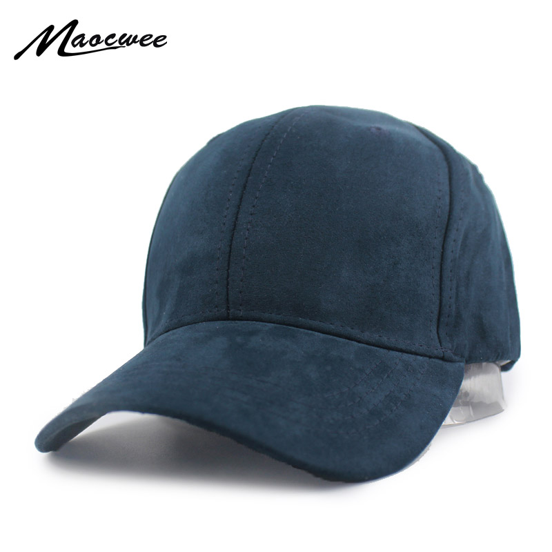 Pure color Faux Suede <font><b>Baseball</b></font> <font><b>Cap</b></font> Dad Hats Bone Snapback Can be adjusted Men's and Women's Leisure <font><b>Sport</b></font> Hats Accessories image