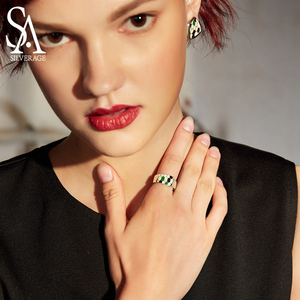 Image 4 - SA SILVERAGE แท้ Medusa Series 925 เงินสเตอร์ลิง Engagemant งานแต่งงานแหวนเงิน 925 สีชุบแหวนผู้หญิงเครื่องประดับ