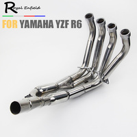 Motorcycle exhaust front pipe For Yamaha YZF R6 06 14 Exhaust Systems Headers Pipes 2006 2007 2008 2009 2010 2011 2012 2013