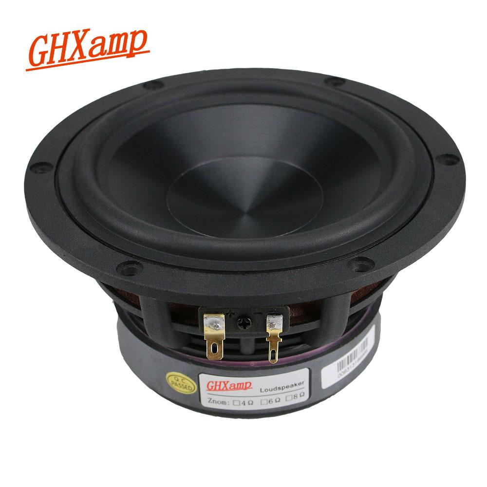 GHXAMP 5 25 inch Woofer Speaker Unit 4ohm 60W Subwoofer Home Theater Deep Bass Loudspeaker Alumina