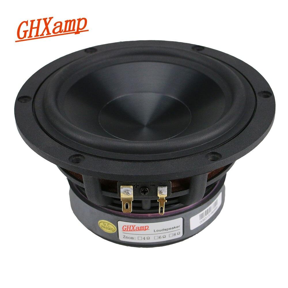 GHXAMP 5.25 pouces Woofer haut parleur unité 4ohm 60W Subwoofer Home cinéma haut parleur de basse profonde alumine céramique pour étagère 1PC    1