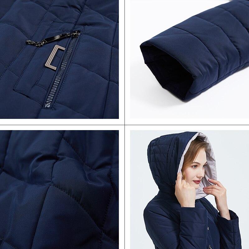 ICEbear 2019 новая зимняя куртка с капюшоном женское пальто мода женская одежда ветрозащитный теплая зимняя женская парки одежда больших размер... - 5