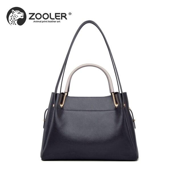 New Genuine Leather Bag Zooler Handbag Brands High Quality Elegant Shoulder Bolsos Mujer De