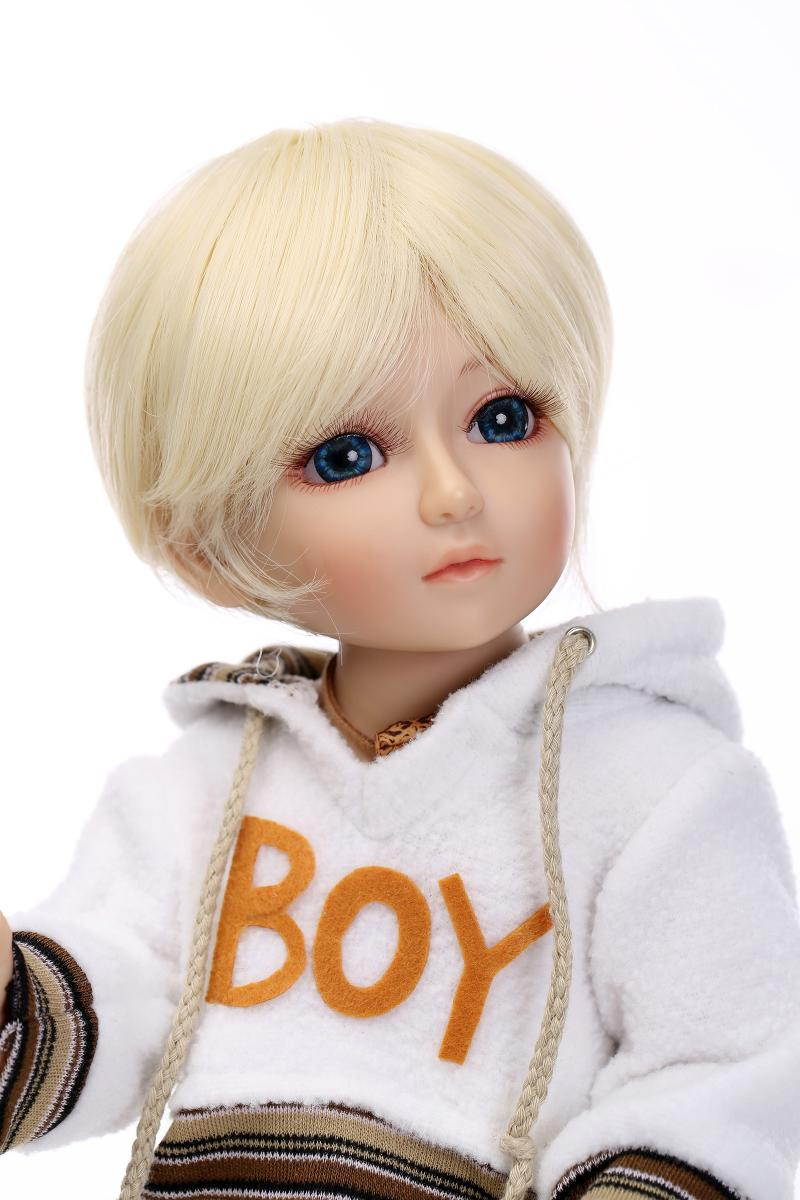 Здесь можно купить  1/4 bjd doll boy for kids toys gift with blonde hair fashion clothes  Игрушки и Хобби