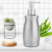 400ml Manual Soap Dispenser Stainless Steel Emulsion Bottle Bathroom soap dispenser pump household soap hand sanitizer touch free stainless steel soap sanitizer dispenser silver 4 x aa 300ml