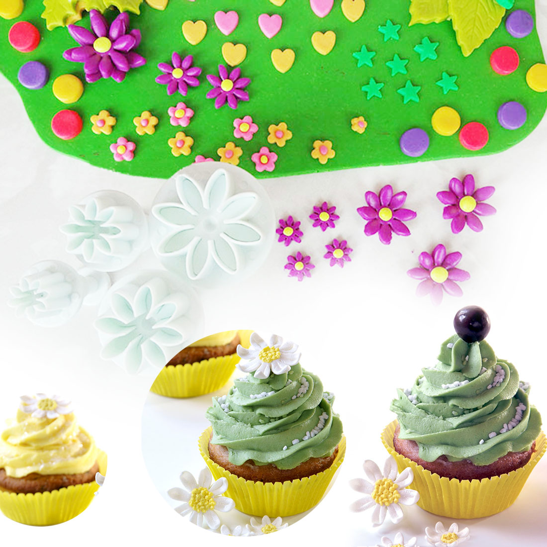 Sunflower Shaped Daisy Cookie CutterCookie Cutters Cupcake Supplies