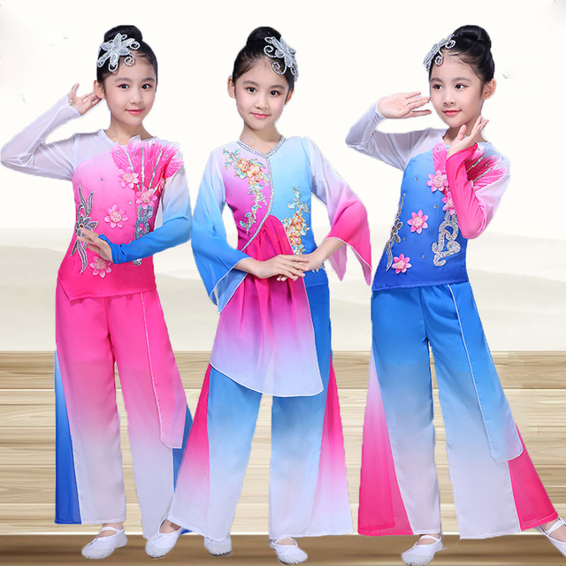 fb3ec5155dc4 Ethnic Children s Classical Dance Performance Clothing Yangko ...