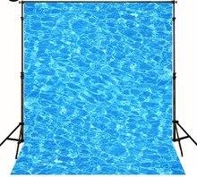 Piscina de Água Azul Onda fotografia Vinil pano de fundo pano recém-nascidos Fotografia Fundos Computador impresso pano de fundo de Alta qualidade