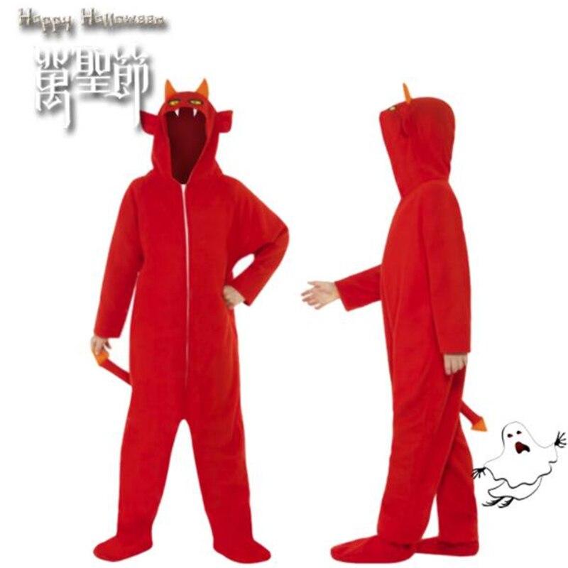Halloween Cosplay adulte enfants vêtements rouge robe fantôme à capuche vêtements Festival Performance scène vêtements pour hommes et femmes