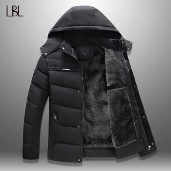 LBL Winter Windproof Jackets Men 2019 Thicken Mens Parka Hooded Jacket Casual Zipper Thick Warm Overcoats Streetwear Tracksuits - DISCOUNT ITEM  54% OFF All Category