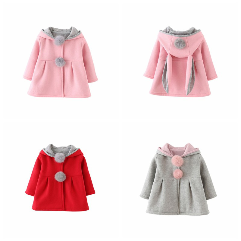 Kids Clothes Fashion Baby Girl Coat Long Sleeve Rabbit Baby Clothing Winter Warm Outerwear S03 in Jackets Coats from Mother Kids