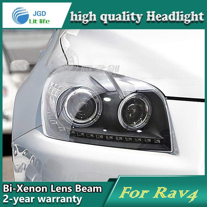 Car Styling Head Lamp case for Toyota RAV4 2009-2011 LED Headlights DRL Daytime Running Light Bi-Xenon HID Accessories special car trunk mats for toyota all models corolla camry rav4 auris prius yalis avensis 2014 accessories car styling auto