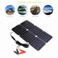 Allpowers 18V18W USB DC 6 Solar panels Sunpower Solar Panel Charger Ports Waterproof Portable Battery Fast Car Boat Charger