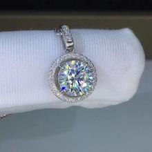 Круглые серебряные подвески «poethes Of Jew Store», 1ct D VVS, роскошные Подвески Moissanite Weding для женщин