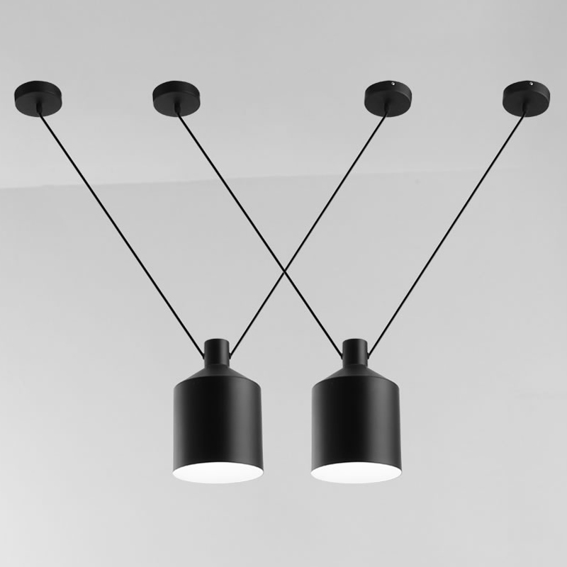 Modern Pendant Lights Black Pendant Lamp Line Hanglamp For Kitchen Living Room Home Lighting Fixture Suspension Luminaire modern holand tulip pendant lights fixture lustre home luminaire suspension pendant lamp dinning room kitchen lustres de sala