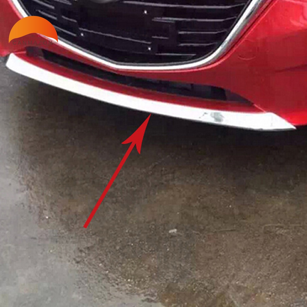 For Mazda 3 Axela M3 Mazda 3 2014 2013 2015 ABS Chrome Front Grill Grille Bumper Protector Cover Trim Auto Accessories 1PCS