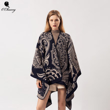 Poncho Feminino Inverno Cardigan Cape Women Scarf Winter Warm Cachemire Luxury Brand Wool Scarves Shawls Wraps Pashmina(China)