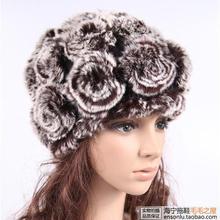 Бесплатная доставка Осень и зима рекс кролика hat меховой розового кролика рекс тепловой шерсть шляпа