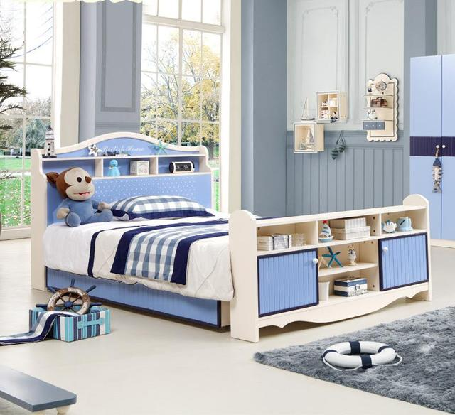 Childrenu0027s Bed, Boys Single Bed, Teenage Prince Bed, 1.2/1.5 Meters,