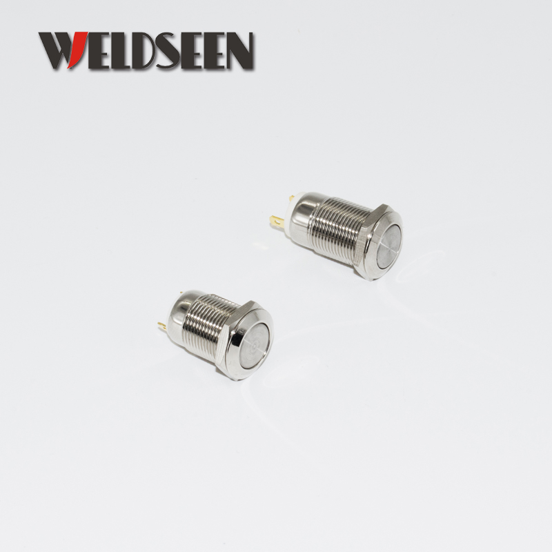 12mm Reset Momentary Self Locking Metal Push Button Switch 3A 250V Waterproof Gilded Car Power Button Switch in Switches from Lights Lighting