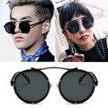 2017 Coreano Vintage Retro Rodada Óculos De Sol Preto óculos de sol 8536 Óculos de Sol com caixa Para As Mulheres Homens Marca Designer