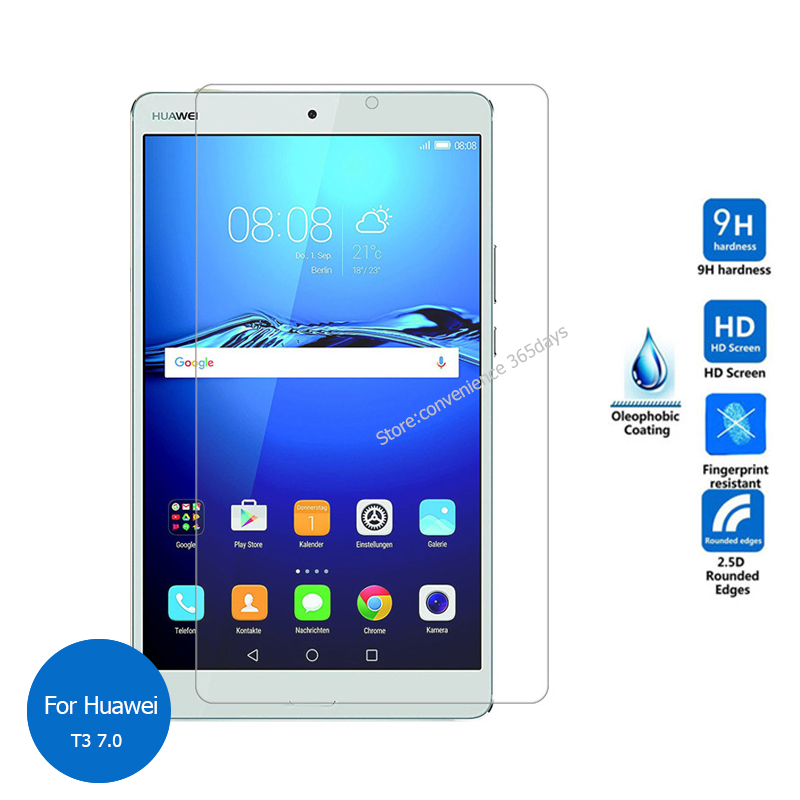 For Huawei Mediapad T3 7.0 Tempered Glass Screen Protector 2.5 9h Safety Protective Film on Mdeia pad T 3 7