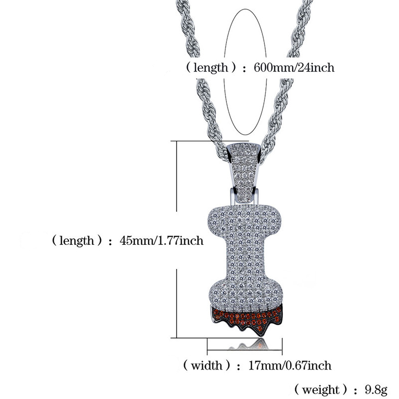 bubble letter necklace50