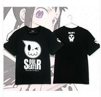 2014 Men Clothing Soul Eater The Skeleton Theme Cotton Short Sleeve Unisex T Shirt