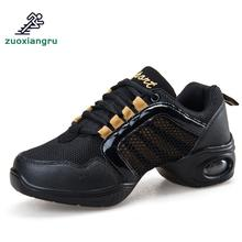 лучшая цена New Soft Outsole Breath Dance Shoes Female Sports Dance Sneakers Jazz Hip Hop Shoes Women Modern Street Dance Shoe Ladies Shoes