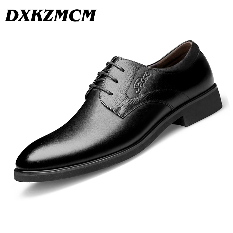 DXKZMCM Handmade Men Dress Shoes Gentlemen Split Leather Shoes Formal Shoes Business Style Men Shoes italians gentlemen пиджак
