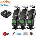 3x godox tt685s TT685-S 2.4g ttl gn60 hss 1/8000s câmera flash speedlite + X1T-S transmissor gatilho para sony a7sii a7rii a7iii