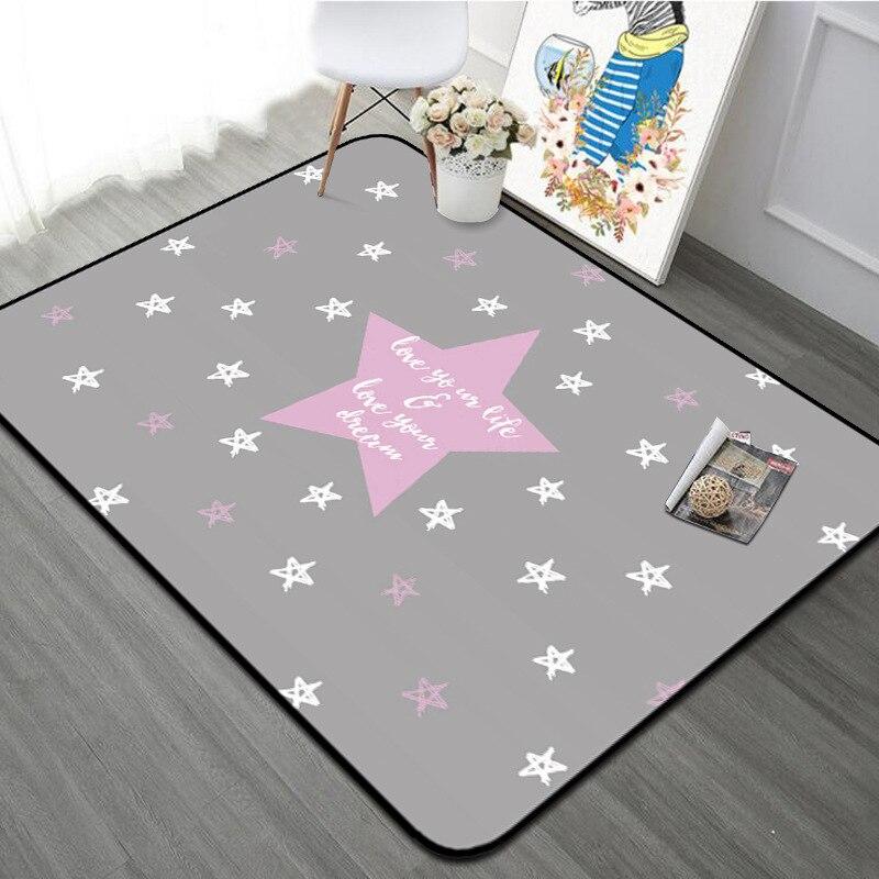 Nordique géométrique flèche salon tapis enfants chambre antidérapant tapis Rectangle étoiles chambre canapé tapis café bureau tapis - 2