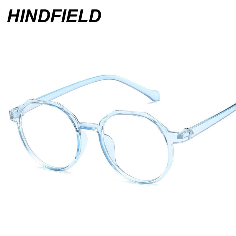 Mode Anti Blaues Licht Gläser Frauen Runde Klare Linse Myopie ...