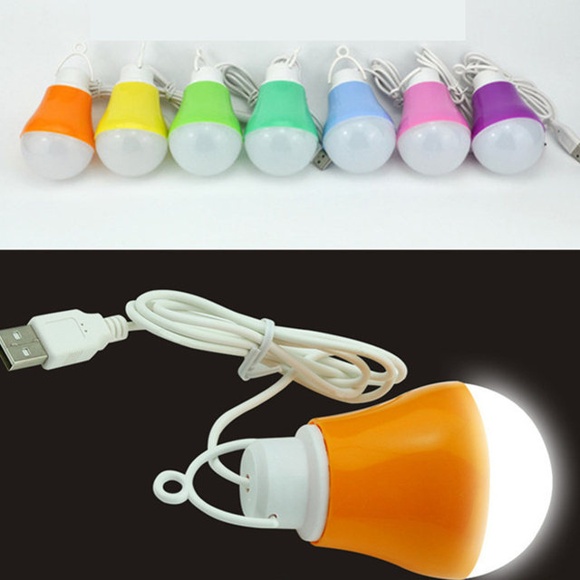 Nova Moda Venda Quente Colorido PVC Ambiental 5 v 5 w USB Lâmpada de Luz Da Lâmpada portátil para caminhadas camping viajar