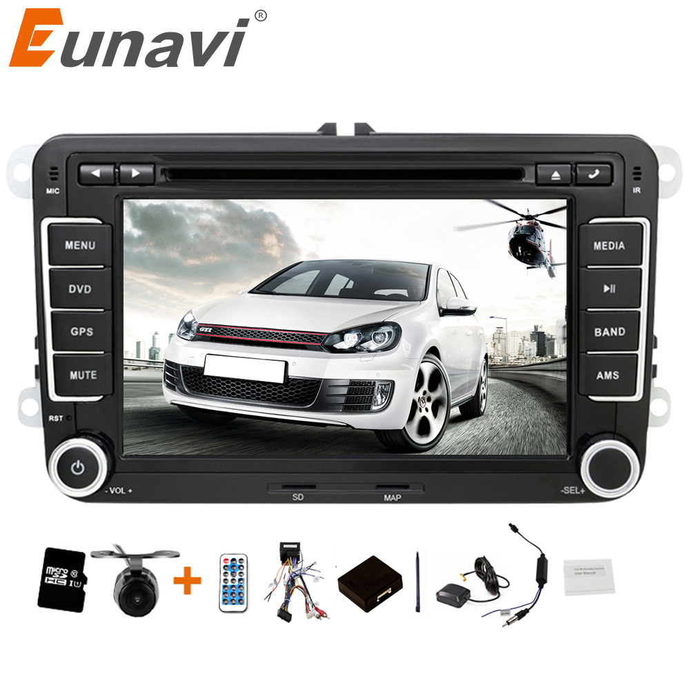 eunavi 2 din 7 inch car dvd player car radio gps for vw. Black Bedroom Furniture Sets. Home Design Ideas