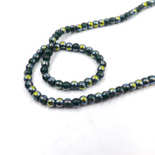Hot~200pcs 4mm Round Shape green-Light Crystal Beads Glass Beads Loose Spacer Bead for DIY Jewelry Making YZ15(China)