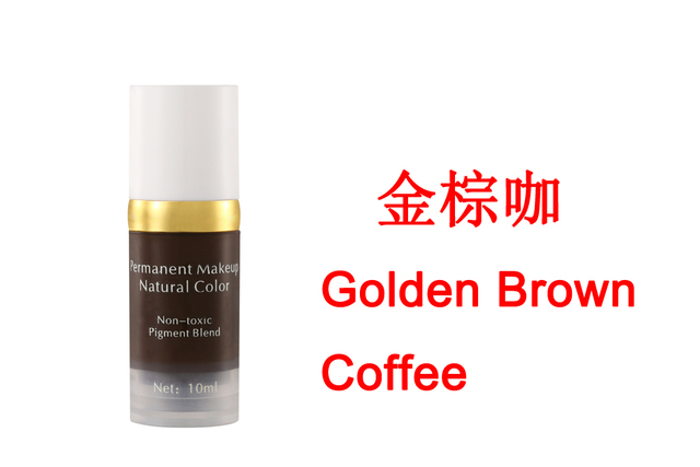 Golden Brown Coffee Colors Natural Manual Ink Cosmetic Tattoo Permanent Makeup Pigmen Paint For