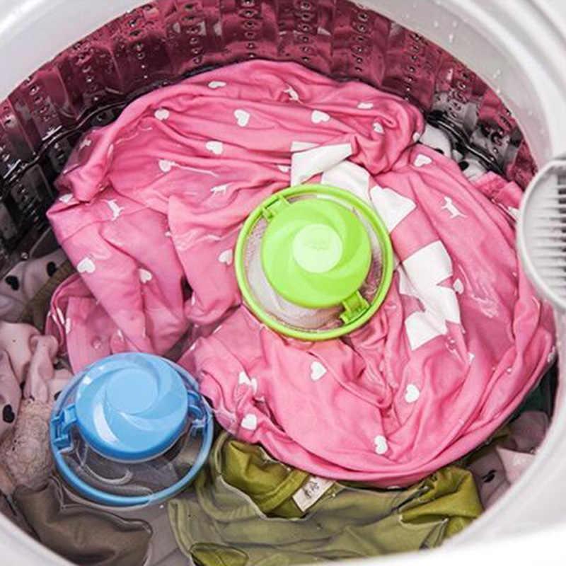 1 pc captador de remoção do cabelo filtro malha bolsa bolas de limpeza saco de fibra suja coletor máquina de lavar roupa filtro bolas