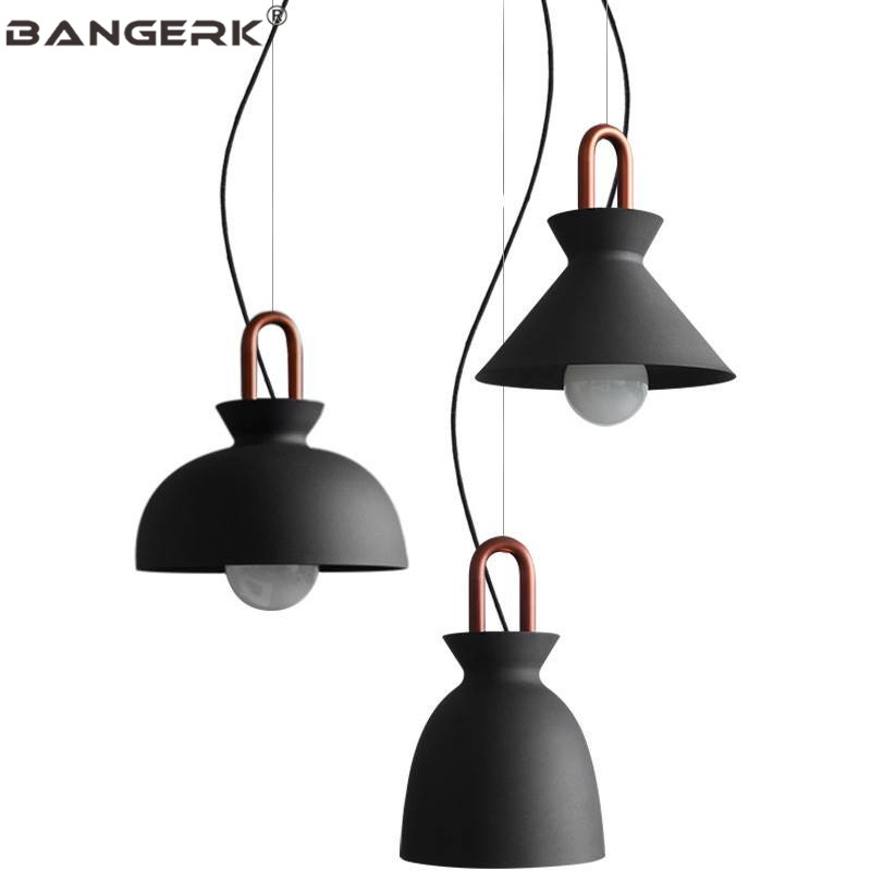 American Industrial Wind Iron LED Pendant Light Loft Decor Modern Hanging Lamp Pendant Lighting Dining Room Home Fixtures|Pendant Lights| |  - title=