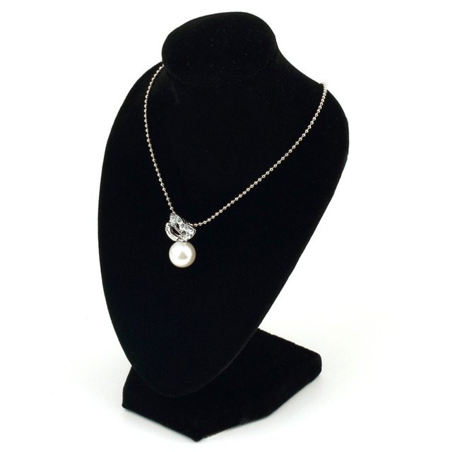 Black Mannequin Velvet Bracklet Necklace Pendant Chain Jewelry